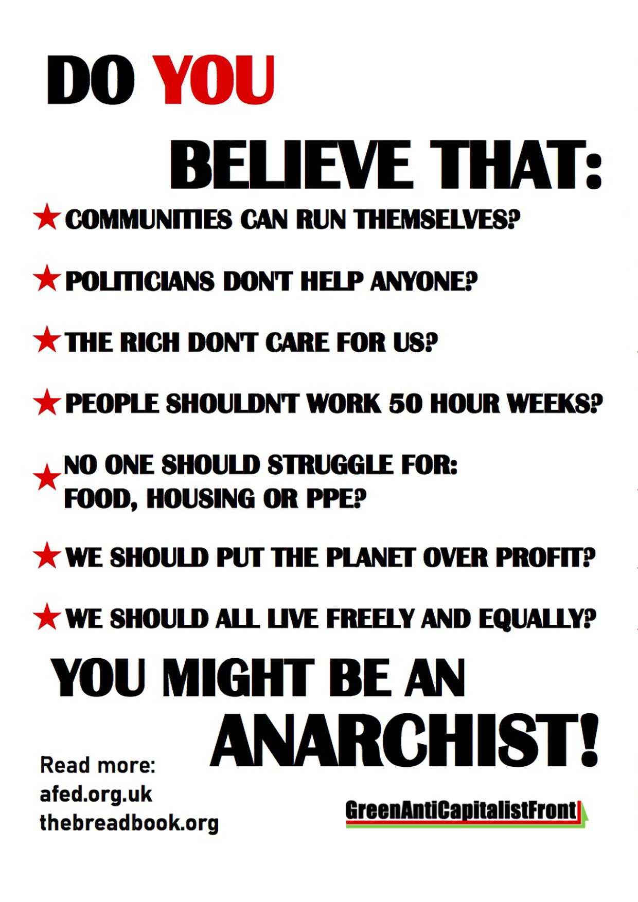 You might be an Anarchist Poster