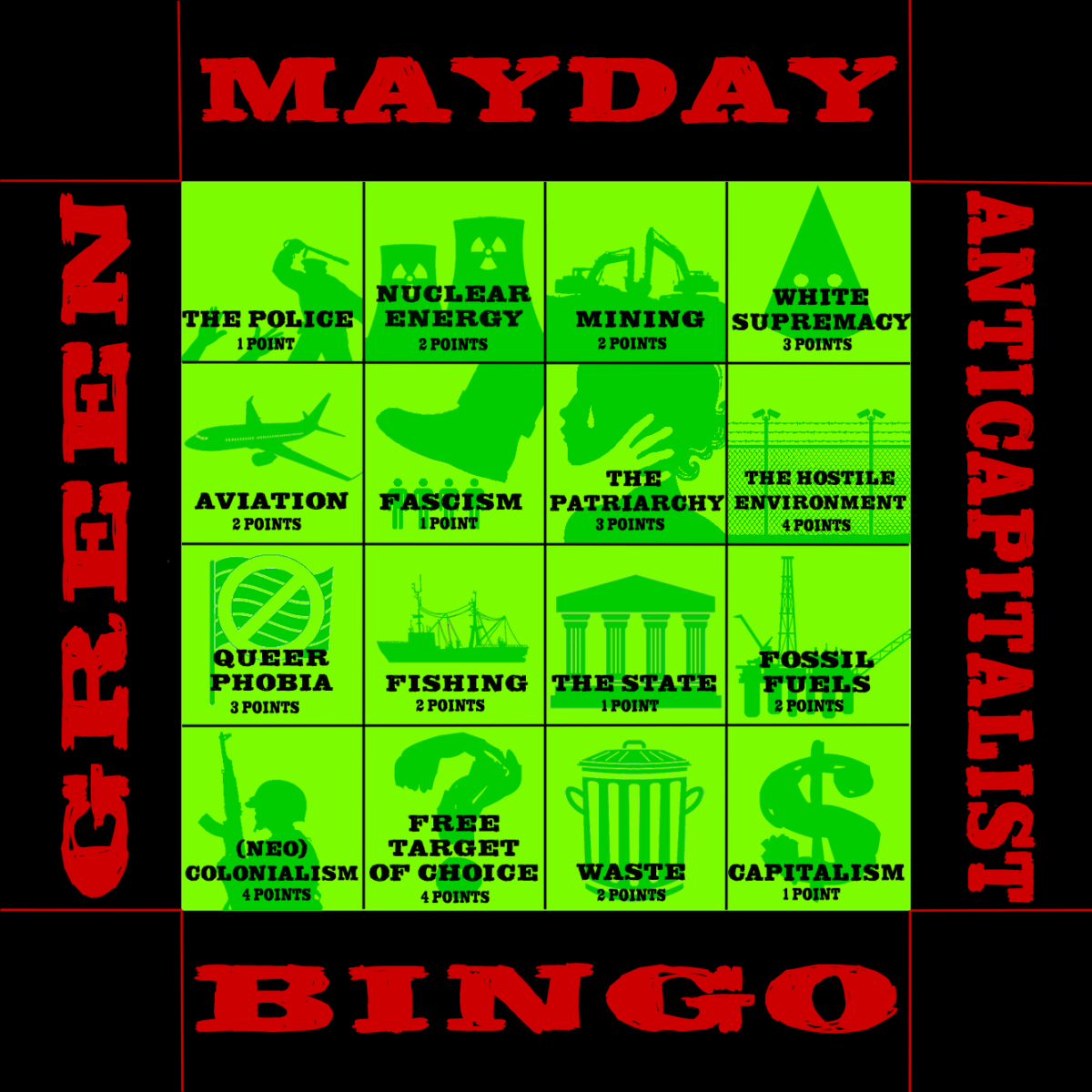 Further advice on how to participate in the Mayday Bingo